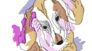 Watercolor Dachshund machine embroidery design