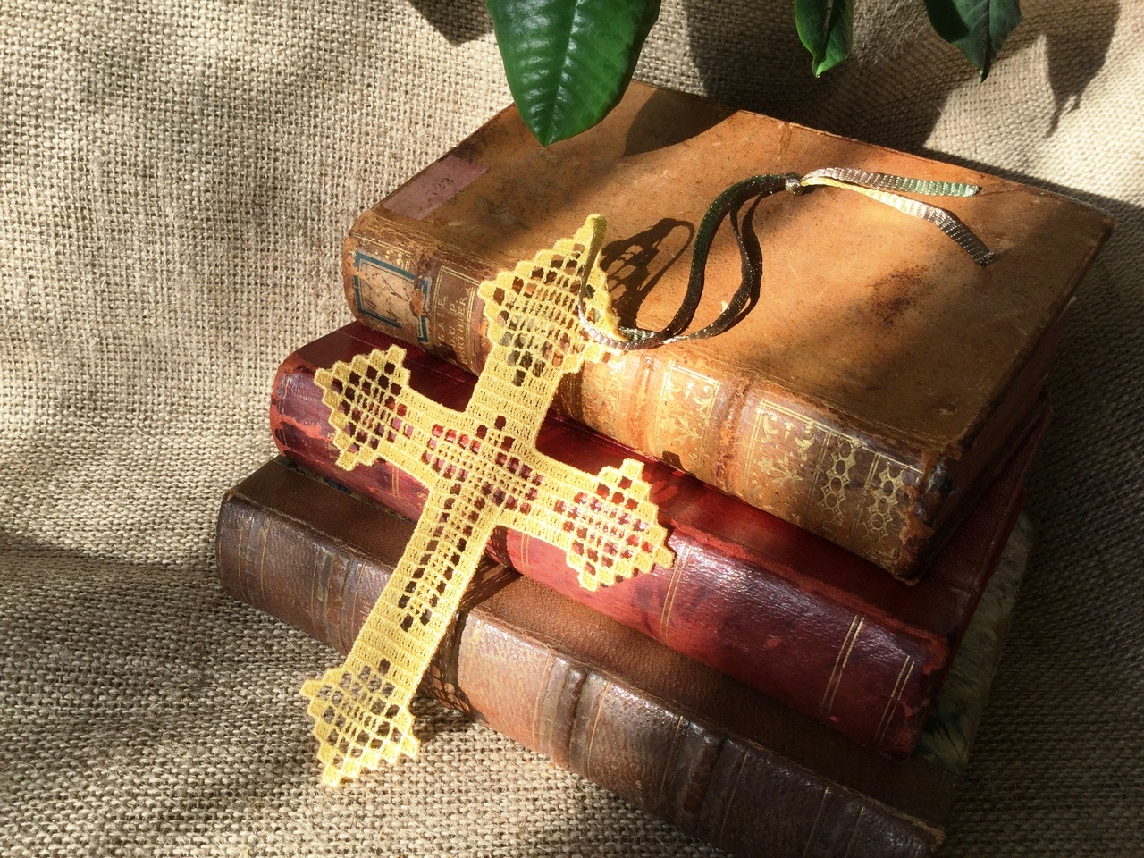 Cross bookmark machine embroidery design Instant Download Religious embroidery
