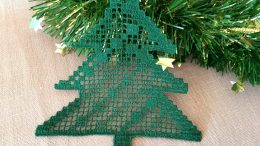 Christmas Tree, FSL Filet lace machine embroidery design