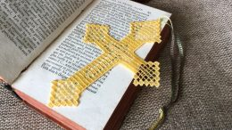 FSL Cross bookmark machine embroidery design