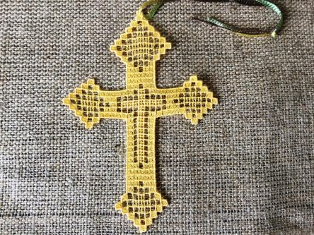 Instant Download Religious embroidery bookmark