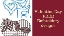 Valentine Day FREE Embroidery designs digital instant download