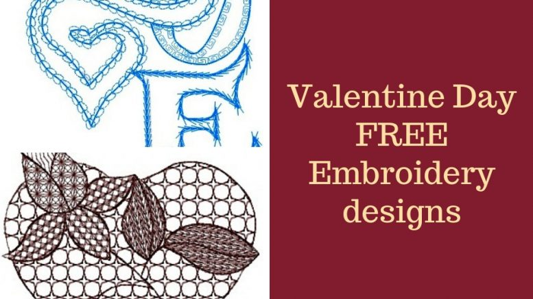 Valentine Day Machine Embroidery Designs Instant Download