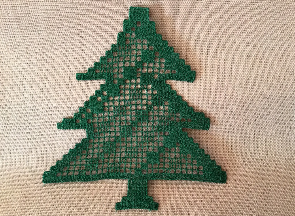 Xmas embroidery digital New Year Tree design