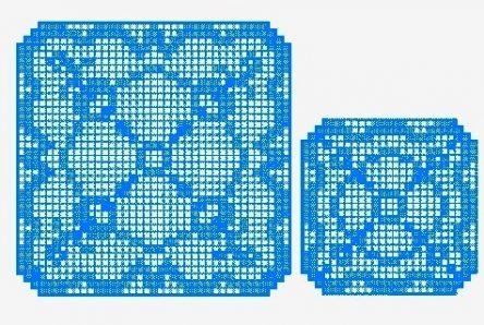 FSL square doily design