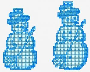 Digital Snowman Bottle embroidery design