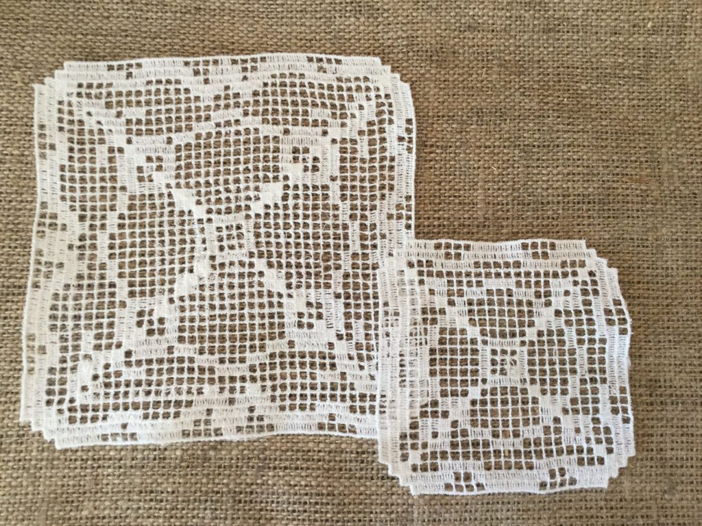 Digital doily filet crochet