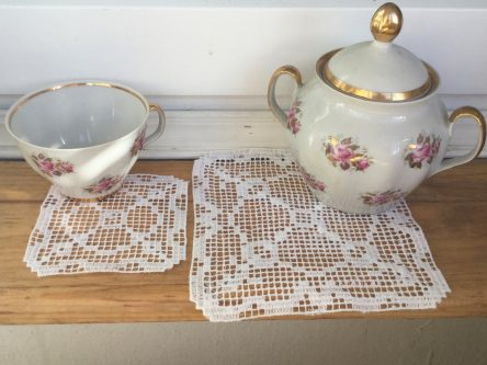 Embroidery digital lace doilies