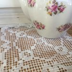 Crochet embroidery FSL table doily