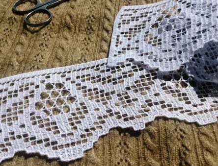 FSL lace for dress machine embroidery design