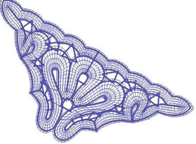 Battenberg corner lace – Free  design