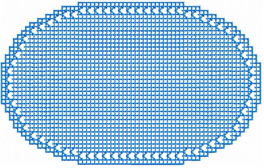 Simple filet doily, 2 size, free design