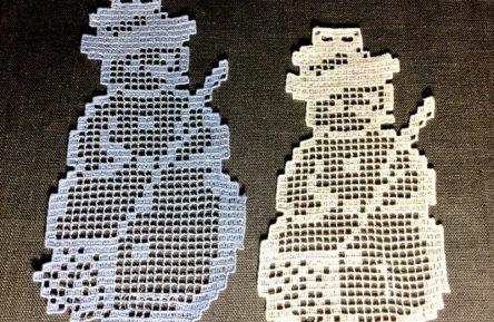 Snowman Wine Bottle Decor Machine embroidery design
