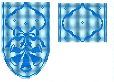FSL Ribbon on wreath - Machine embroidery design - Table runner - Vintage pattern doily - Ideas for Christmas - Digital file