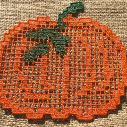 FSL Pumpkin Mug Rug Embroidery design