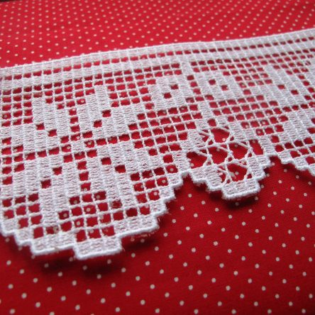 FSL Christmas Poinsettia lace border set