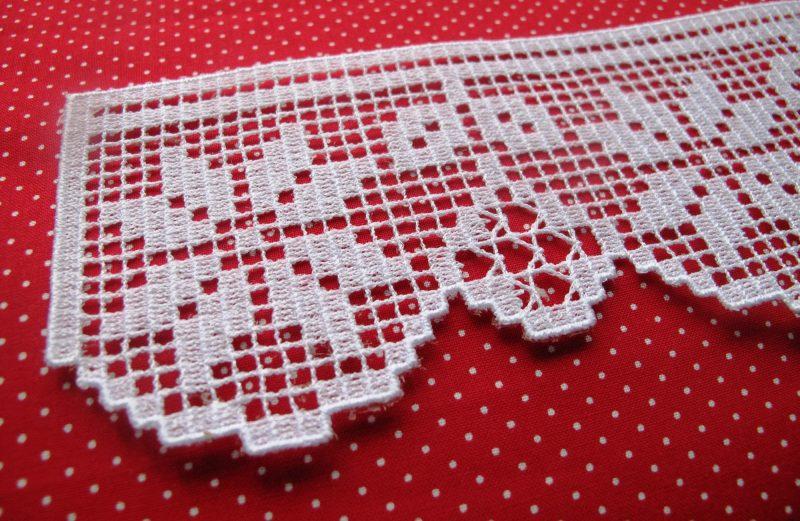 Poinsettia lace machine embroidery design