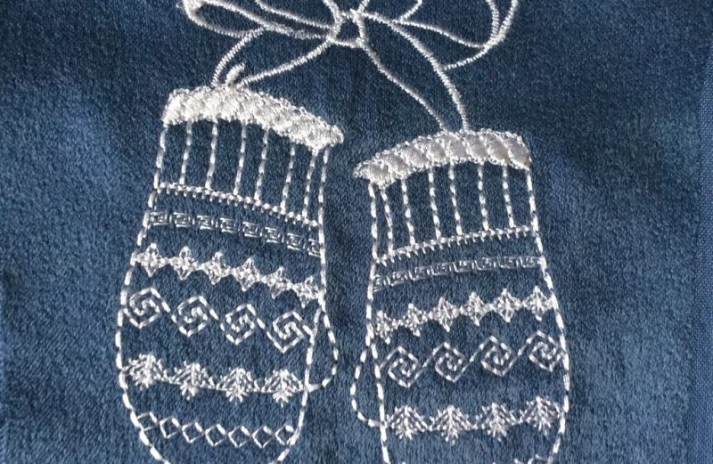 Mittens machine embroidery design FREE