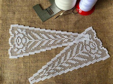 Lace insert machine embroidery design
