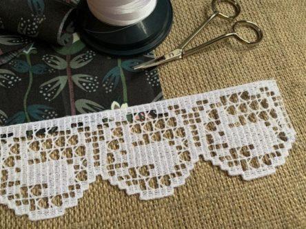 Bunny lace machine embroidery design FSL