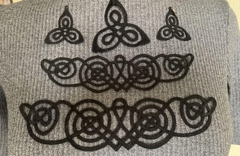 Viking style lace jewelry