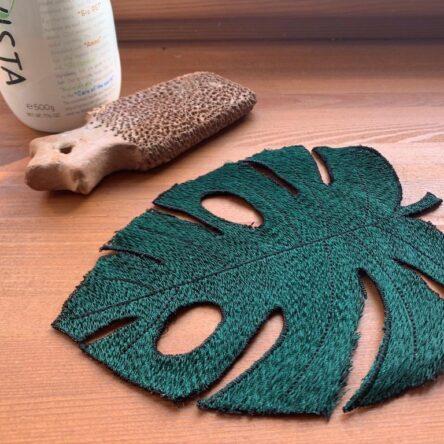 Monstera leaf embroidery design FSL