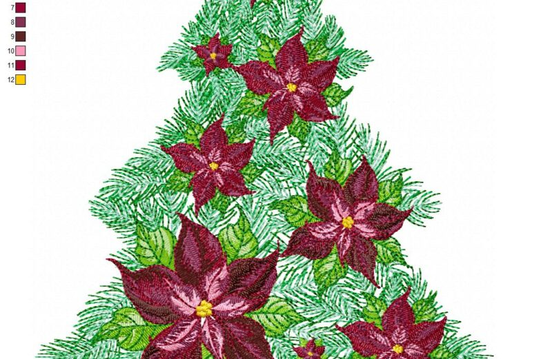 christmas tree free machine embroidery designs