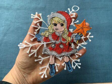 FSL Snow girl embroidery design