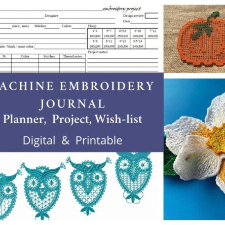 Machine embroidery Planner, digital files