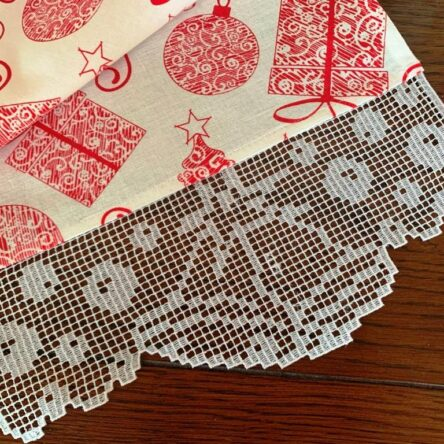 Christmas towel edge embroidery design
