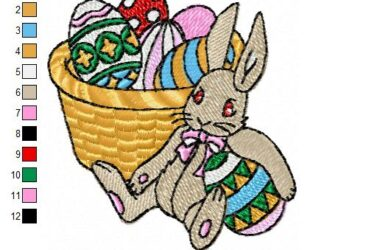 Easter Bunny, free embroidery designs