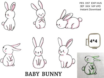 Baby Bunny embroidery designs