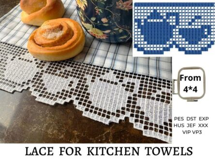 Kitchen towels embroidery designs