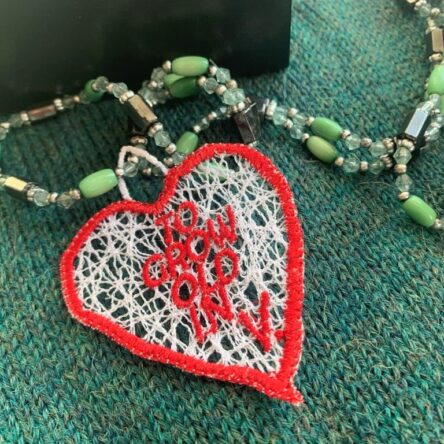 Wandavision Heart embroidery design FSL