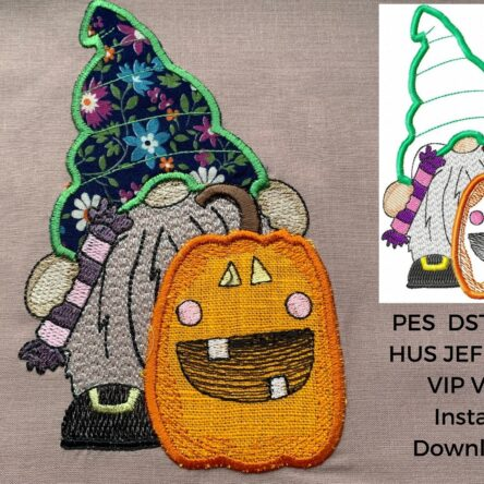 Halloween Gnome applique design