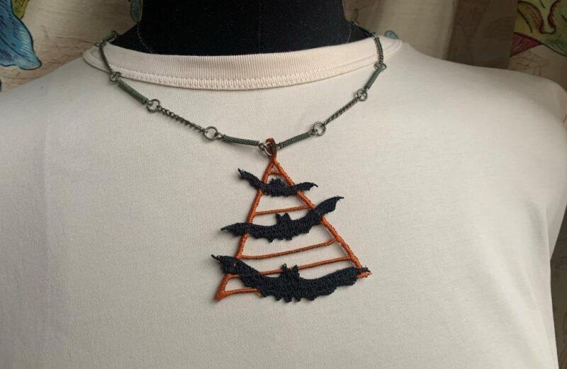 FSL Halloween jewelry (earrings, pendant)