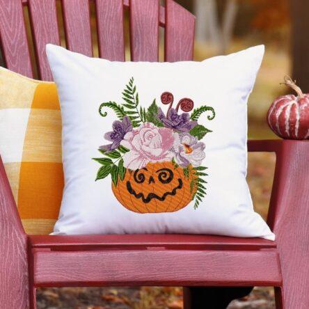 halloween pumpkin embroidery design download